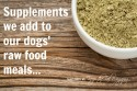 Supplements We Add To Raw Dog Food